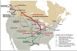 Pipelines map